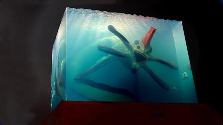 """牛人奇思妙想,用环氧树脂打造深海""""巨兽"""",最后的成品太逼真了!"""