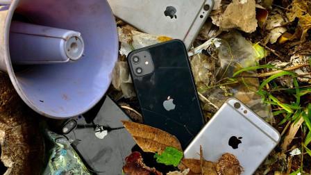 小伙意外捡到废旧iphone,带回家翻新后,网友:价值翻倍!
