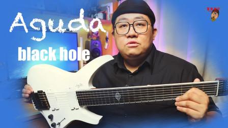 重兽测评-Aguda Black Hole 7, 阿骨打 黑洞系列 7弦无头电吉他