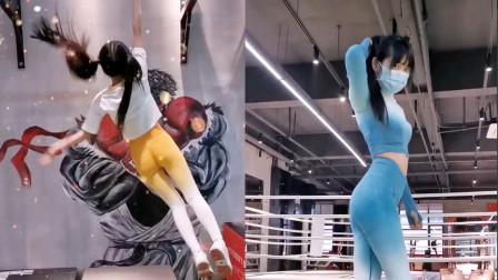 清纯脸蛋完美身材!爱上健身的最强萝莉,这肌肉根本惹不起啊!