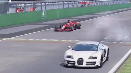 世界上最快的跑车挑战F1赛车,赛车:让你先跑会