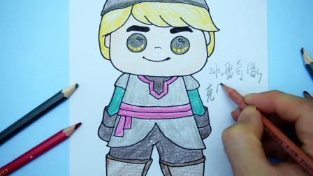 儿童创意手绘:迪士尼冰雪奇缘Q版克里斯托夫,胖嘟嘟很可爱