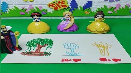 王后让女儿们画画,你觉得哪位公主画的最好?