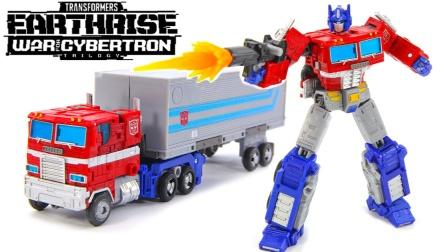 擎天柱拖车汽车机器人玩具.变形金刚大战擎天柱拖车