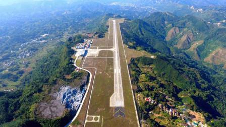 削平1200米高山主峰,修建世界最狭长机场,可起降80吨大型运输机