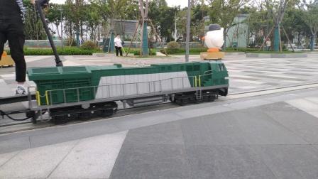 【铁路】假和谐N5牵引仙林金鹰小火车通过道岔