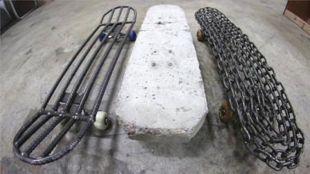 小伙脑洞大开,自制三款世界上最重的滑板,滑动瞬间太炫酷了!