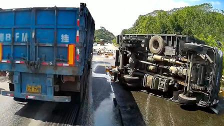 交通事故合集:时速100通过路口,遇见状况能反应过来么?