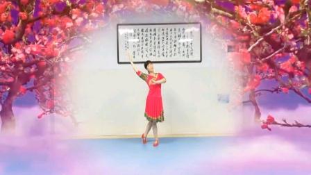 永州友爱广场《小调情歌桃花红》演示爱丽