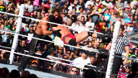 吾王兰迪在WWE摔角狂热祭出过多少RKO?真爱粉们快来数一数!