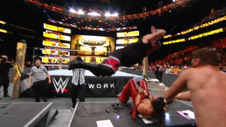 WWE选手们第一次被爆桌都是啥德行?德鲁飞蛾扑火朋克一脸懵逼