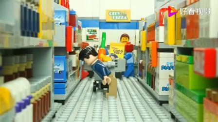 乐高城市有了丧尸病毒,乐高城市一天的生活,有趣的玩具