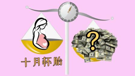 怀孕10个月总共花掉多少钱?算完才 发现自己挺有钱!网友:生不起孩子了!