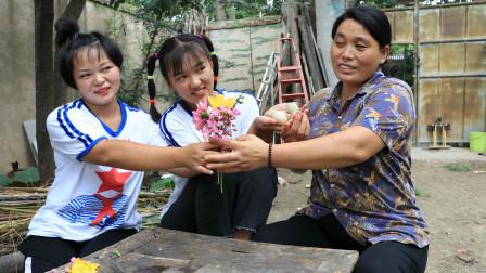 欢欢的有趣童年短剧:妈妈过生日,姐妹俩采野花送给妈妈,野花虽小对妈妈的爱是真的!