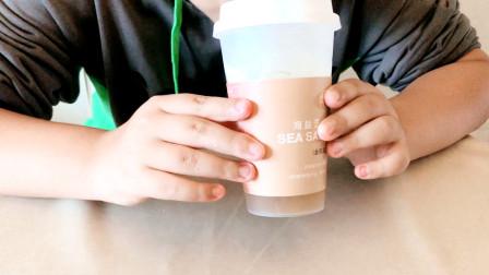 自己打奶盖的奶茶你喝过吗?小轩做奶盖的时候还偷偷舔勺呢,哈哈