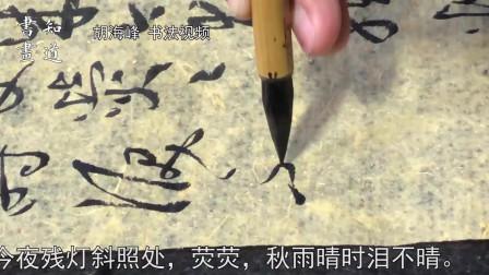 知道书画|海峰书法视频 苏轼词《南乡子·送述古》02