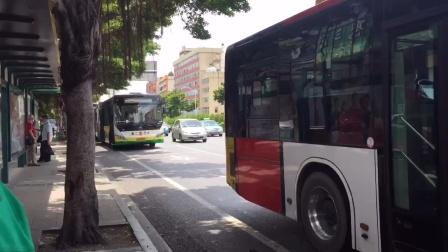 2020年7月27日,广州公交在鹭江进出站景象。(12倍速)