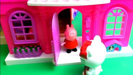 小猪佩奇乔治读书儿童故事