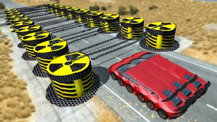 疾驰的汽车碰到铁链会怎样?牛人3D动画演示,场面太刺激了!