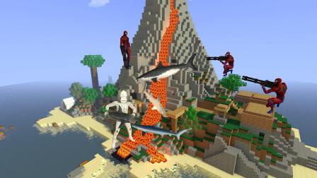 GMOD游戏怪兽抓了好多鲨鱼,蜘蛛侠会救鲨鱼吗?