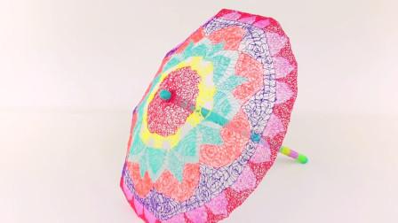 国外小伙用3D打印笔制作一把雨伞,样子挺不错的