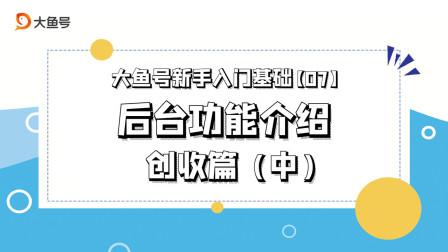 大鱼号后台板块功能详解·创收篇(中)