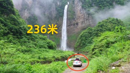 湖南深山一瀑布,从200米高的山洞中流出,这地方真是人间仙境!