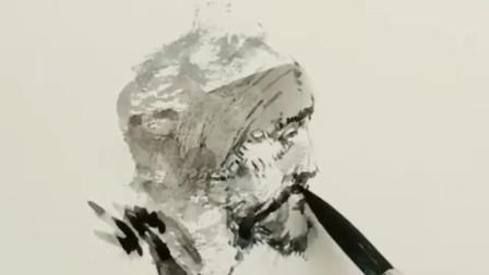 在很小一张纸上,画出很精致的人像水彩