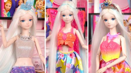 叶罗丽玩具故事:冰公主睡觉时梦见自己变美了,醒来后充满自信