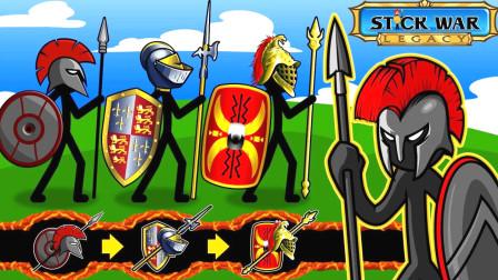 火柴人战争遗产:黄金斯巴达士兵和治疗师的完美配合,轻松攻打背水一战