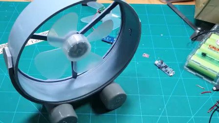 PVC管用来做一个移动风扇,再也不用怕热了