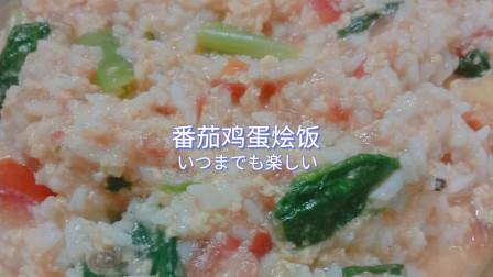 在家也能做的番茄鸡蛋烩饭~吃得精致也很重要!