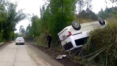 交通事故合集:疲劳驾驶偏离车道,遇见大货车怎么办?