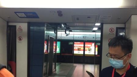 广州地铁8号线2C78改门后关门。