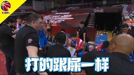 CBA季后赛 福建队惨败于北京队 福建队主帅评价球员打的跟屎一样