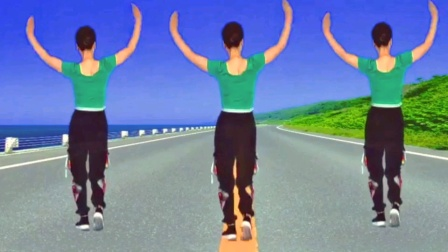 优美抒情广场舞《雪花心语》背面教学演示完整版