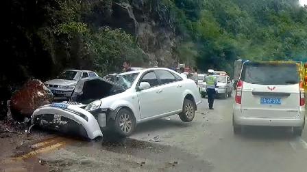 交通事故合集:不会远离大货车,遇见状况刹车都来不及