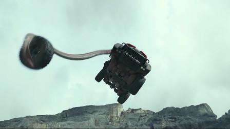 怪兽卡车,当喝石油的怪兽替代汽车引擎时,轮子飞出去都能拉回来