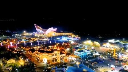 青岛最美西海岸金沙滩啤酒城全景