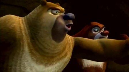 熊出没之夺宝熊兵:贪吃的熊二,把头埋进西瓜里!