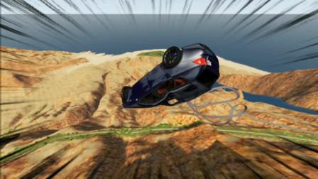车祸模拟器79 汽车作死挑战地狱级赛道 粉身碎骨就是下场