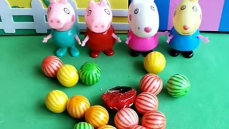 好吃的糖果来了,结果小朋友们要先刷牙,这样才可以吃糖