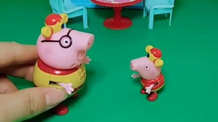 乔治说想要吃冰激凌,猪爸爸刚刚说不给他吃,这怎么又买上了啊