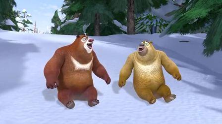 熊出没之熊心归来:光头强在雪地里开车,控制不住了!