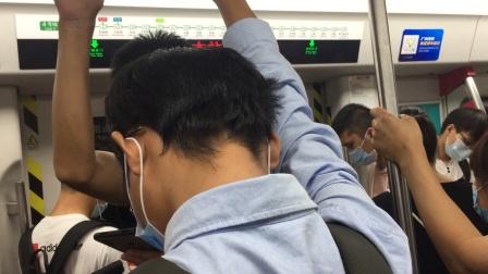 2020年8月9日,广州地铁4号线L1型列车04×013-014黄村-南沙客运港普通车,车陂南-万胜围区间运行与报站。[广州地铁集团无广告]