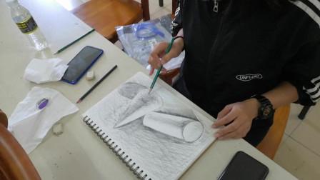 儋州市文化馆公益成年人国画班素描课学习剪影
