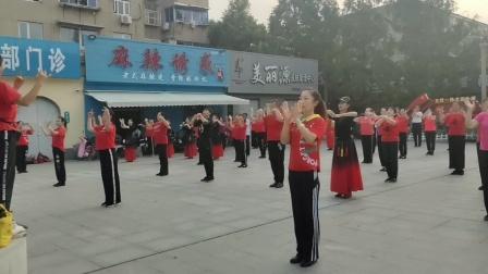 江苏省广场舞公益培训进社区,普及推广广场舞《爱的奉献》东海县广场舞协会