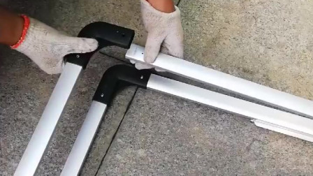 大海报架安装视频