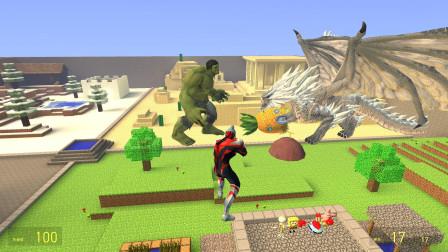 GMOD游戏绿巨人能帮海绵宝宝把大菠萝拿回来吗?