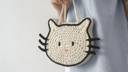 LYG手作 下集 【原创】可爱KT猫手提包新手钩针编织教程